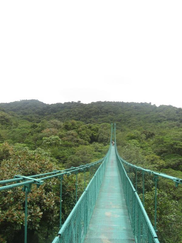 Eine der Hängebrücken