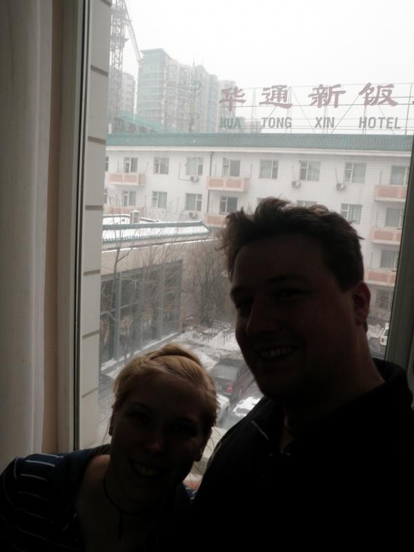 Wir - endlich im Hostel