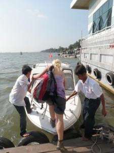 Unser Schnellboot nach Phnom Penh