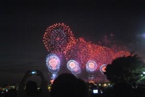 Feuerwerk zu unserer Abreise