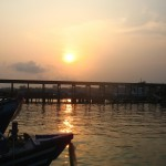Sonnenuntergang kurz vor der Ueberfahrt