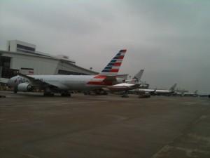 Am Flughafen in Dallas