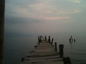 Ausblick vom Santiago Dock