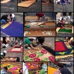 Semana Santa in Antigua 2014: Die Vorbereitung der Alfombras