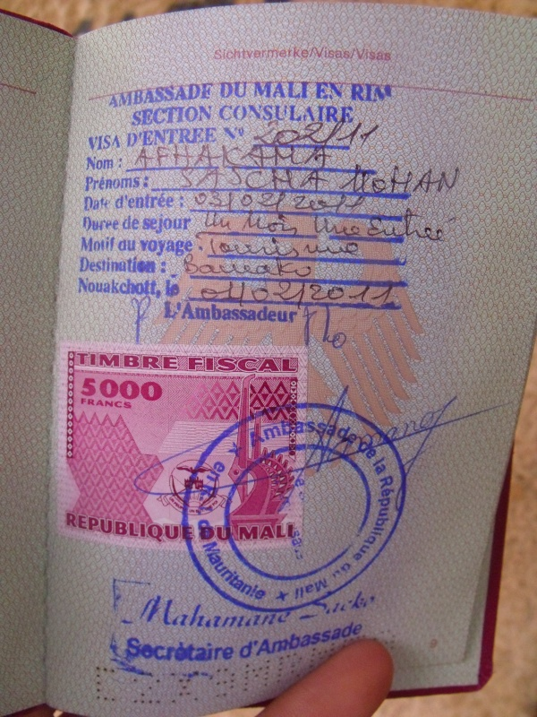 frisch aus der Botschaft: mein 3. Visum