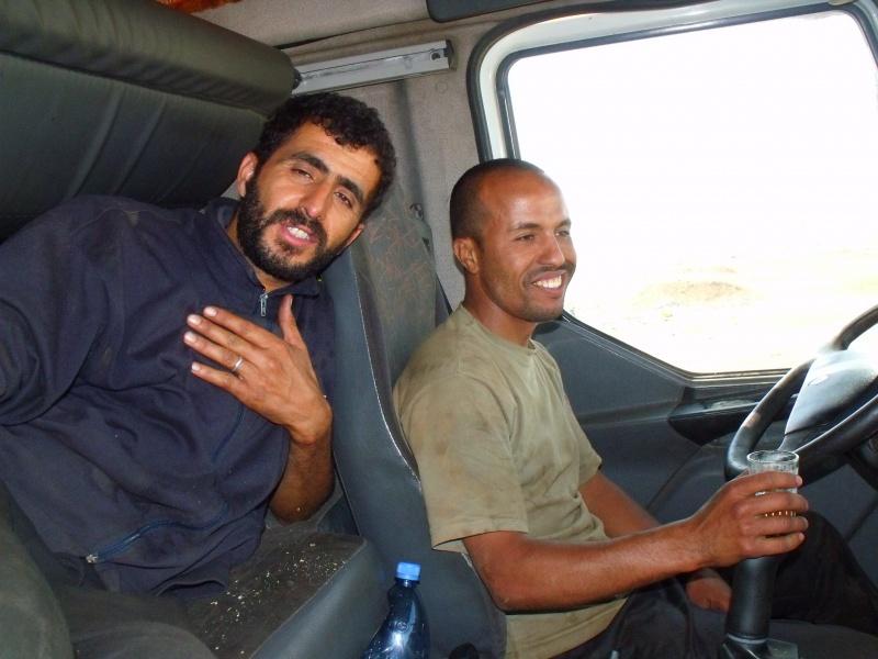 Die Fahrer Mustafa und Halif