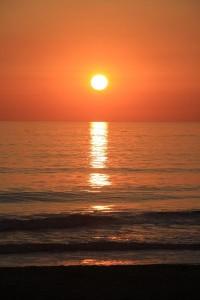 Sonnenuntergang - mal ohne Wolkenbank