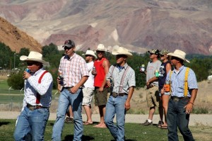"""sharing beer cans with dear friends"" - Cowboys in Challis, Idaho"