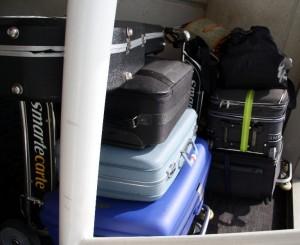 2 vollgepackte Kofferkulis haben mit uns gewartet ...