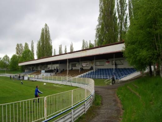 Das Stadion Lokomotiva in Cheb.