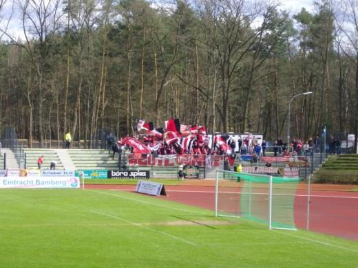 Die Reutlinger Fans in Bamberg.