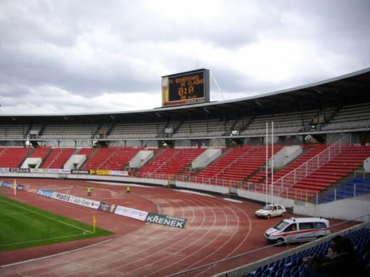 Das Stadion Evžena Rošického in Prag.