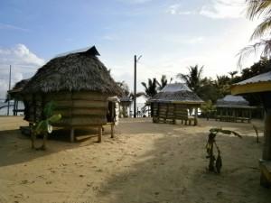 Übernachtung in Beachfales direkt am Strand, die...