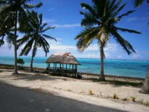 Küstenline auf Savaii - Blick aus dem Bus :-)