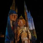 Lightshow auf der Kirchenfront