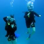Mit meinem Dive Buddy Katie