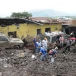 3m Schlamm und darunter 9 Häuser vergraben…