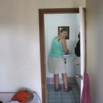 Angie beim Waschtag