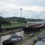 Kanal-Schleusen in Miraflores