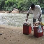 mobiler kolumbianischer Grillstand