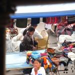 Marktgeschehen in Otavalo
