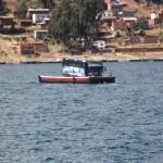 Bustransport über den Titicacasee