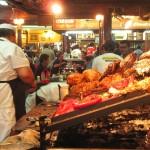hmmm…Fleischbatzen auf dem Mercado del Puerto in Monte