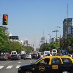 ein Teil der 9 de Julio…breiteste Strasse der Welt