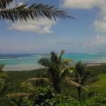 Blick vom hausberg auf Aitutaki
