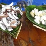 Verpflegung an Bord…Kokosnuss und anderes