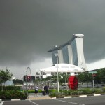 Dicke Regenwolke im Anmarsch (Uhrenvergleich 15 Uhr)