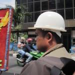 Unser Becak-Fahrer in Medan