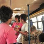 Musiktrio im Localbus