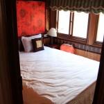 Unser Bett in der Kajüte… nicht neu bezogen für die Neuen