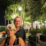 Hansi und Evi auf` m Dach