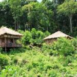 Bungalows unseres Hostels auf Koh Rung