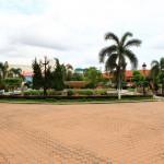 Bekannter Springbrunnen in Vientiane – Das Wasser hat verschlafen