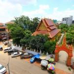 Blick vom Hostel aus – Vientiane