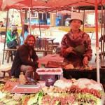 Auf dem Markt BBQ essen