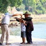 Da muss jeder Chinese durch wenn er GROß werden will – Kormorane eines Fischers in Yangshou beim Fotoshooting