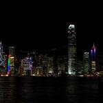 Blick auf Hong Kong Insel Skyline