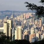 Hong Kong Insel vom Peak aus