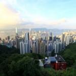 Vom Peak – i.V. Hong Kong dahinter Kowloon