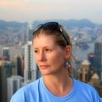 Angie auf dem Peak