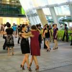 Shenzhen-typisch in China-Tanz am Abend auf öffentlichen Plätzen