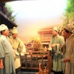 Vier Teebauern im Museum