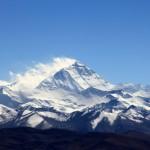 Zoooom auf den Mt. Everest vom Pass aus