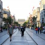 Einkaufsstraße südlich vom Platz des Himmlischen Friedens