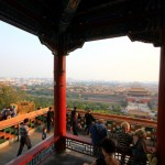 Blick auf die Verbotene Stadt vom Hügel des Jingshan Park