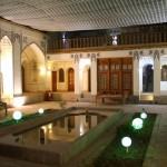Der Innenhof unseres Hotels in Esfahan